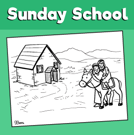 The Good Samaritan Coloring Page