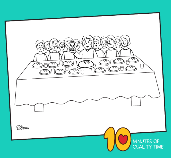 the last supper coloring pages printable
