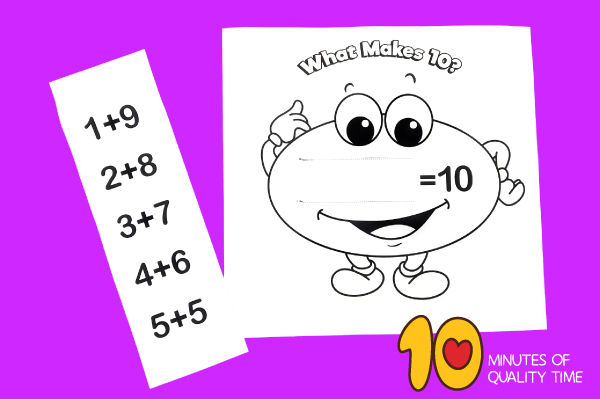 making 10 worksheet kindergarten