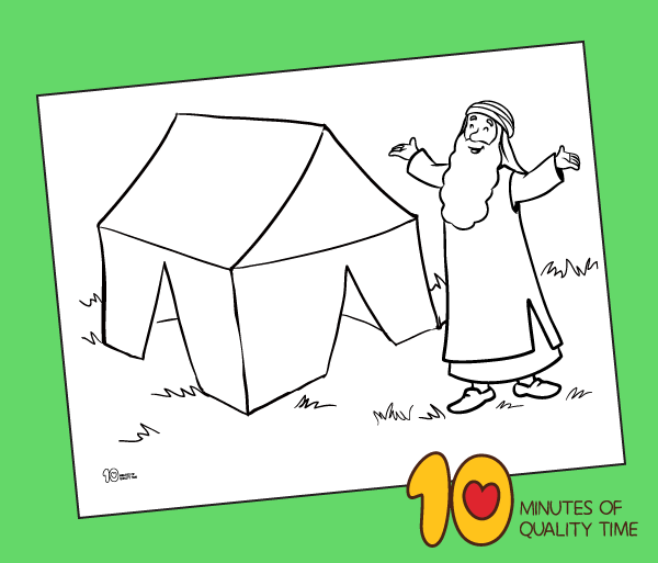 abraham tent coloring pages printable