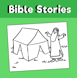 Abraham's Tent Coloring Page