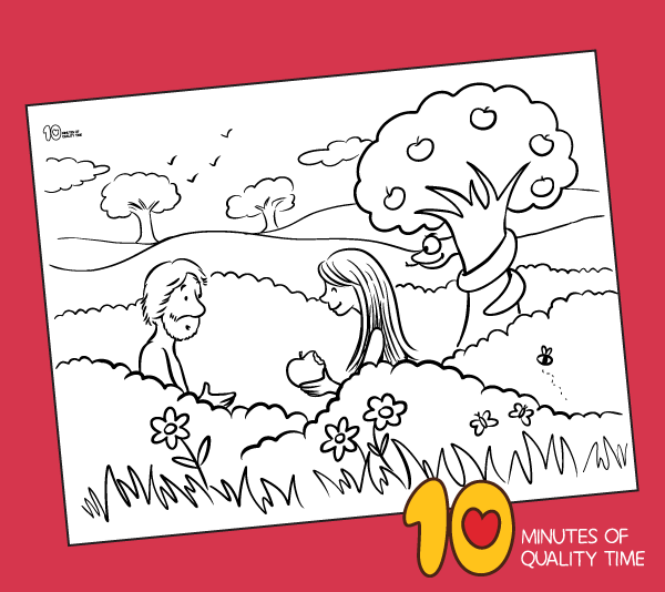 adam and eve printable coloring sheets