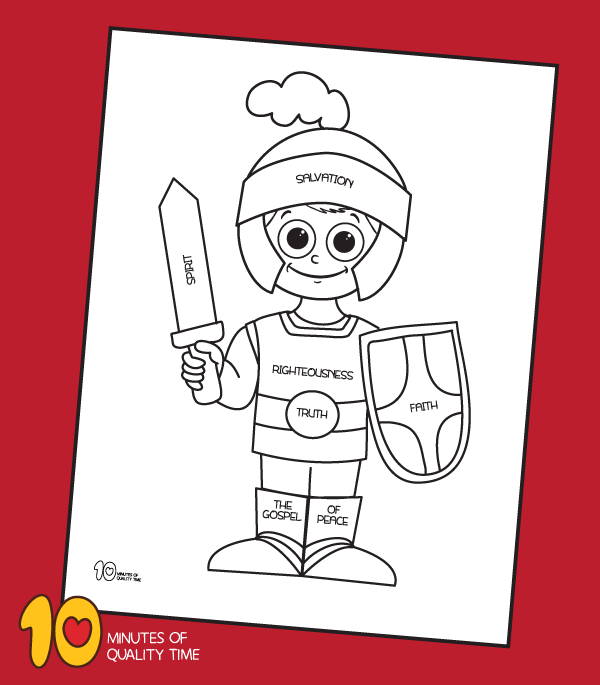 armor of god coloring sheet