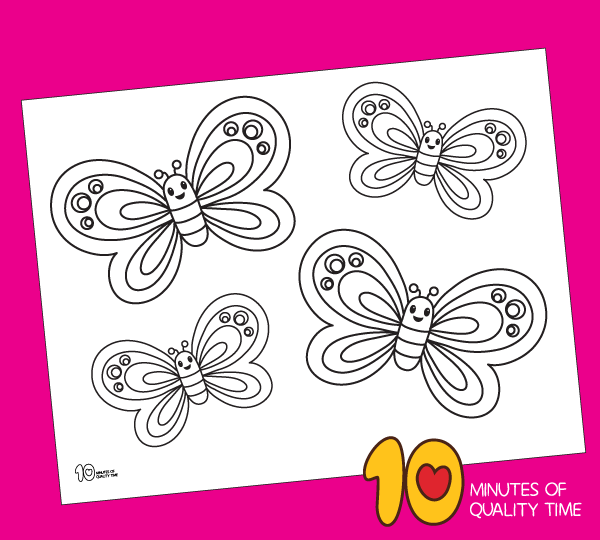 butterfly coloring page preschool