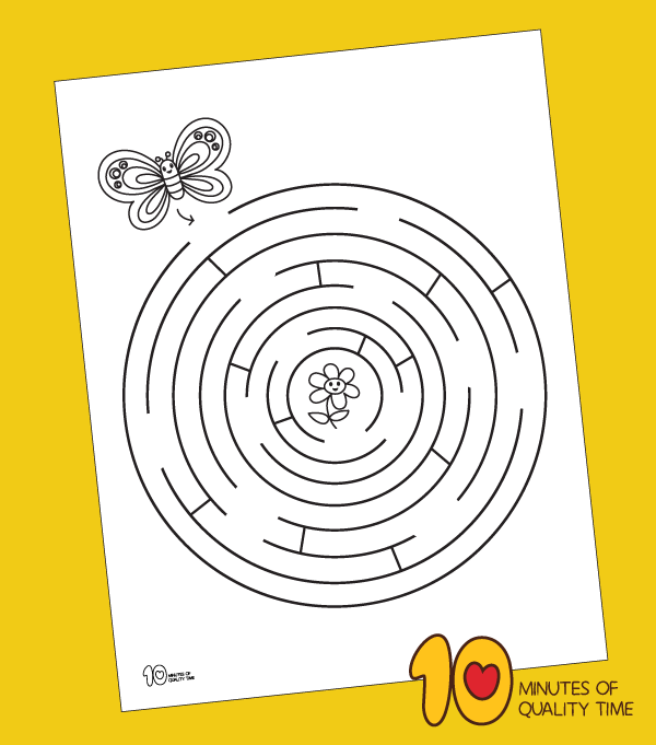 butterfly maze printable