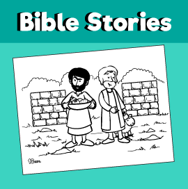 Cain and Abel Bible Coloring Page
