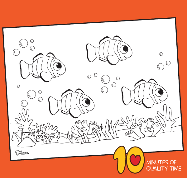 fish coloring page for preschool