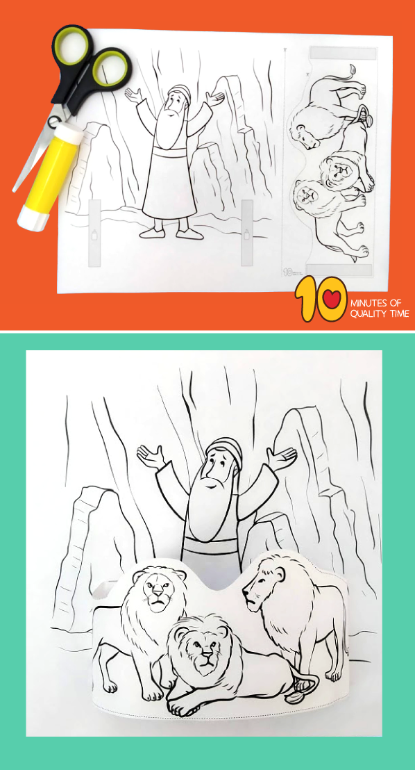 daniel in the lion's den activity sheets