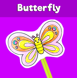 Flying Butterfly Straw Craft