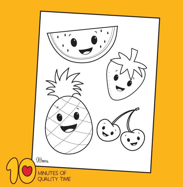 pineapple coloring pages printable