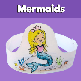 Mermaid Paper Crown