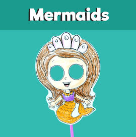 Printable Mermaid Mask
