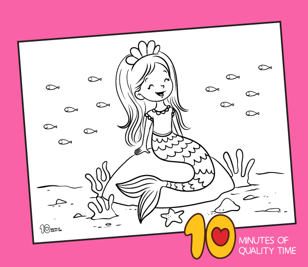Mermaid coloring page | Free Printable Coloring Pages | 520x600