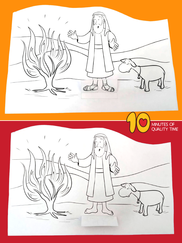 moses and the burning bush activity pages