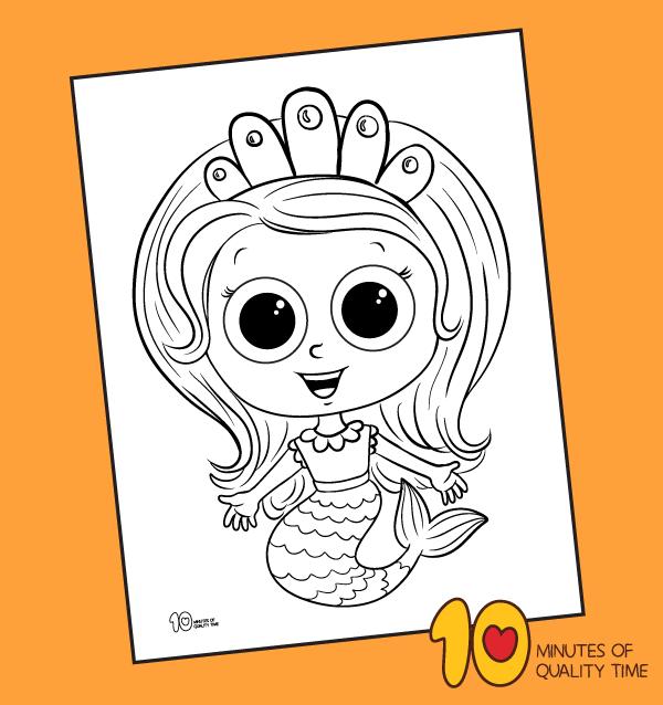 Printable Mermaid Coloring Pages