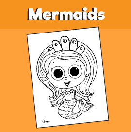 Printable Mermaid Coloring Page