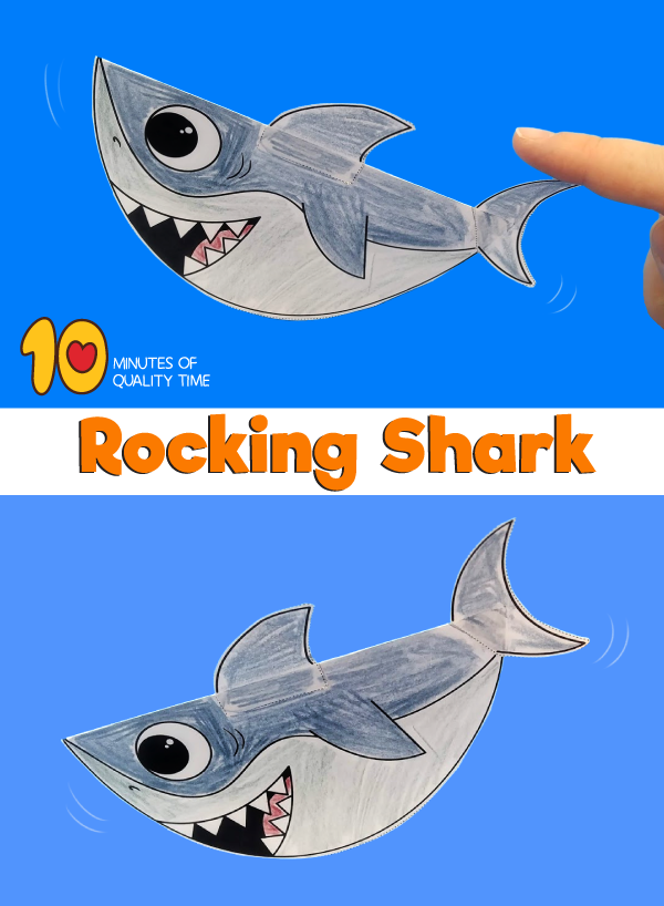 rocking baby shark craft