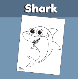 Shark Coloring Page