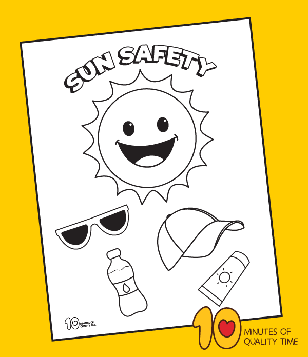 summer safety coloring sheets