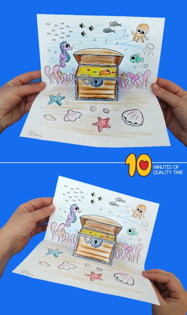 Underwater Treasure Chest Craft 10 Minutes Of Quality Time