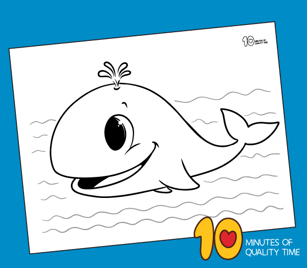 whale coloring pages for preschoolers