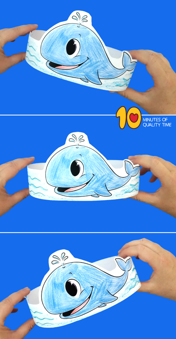 whale craft for kindergarten
