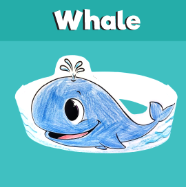 Whale Paper Crown