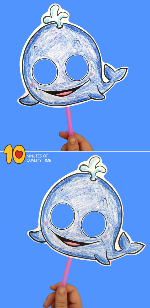 whale craft template