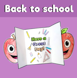 Back to School Folding Card
