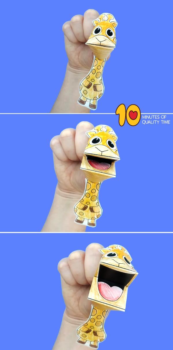 giraffe puppet primary school