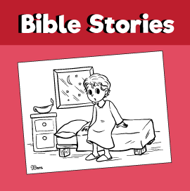 God Speaks to Samuel Coloring Page