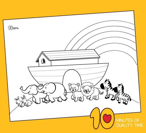 Noah\'s Ark Animals Two by Two coloring page – 10 Minutes of ...