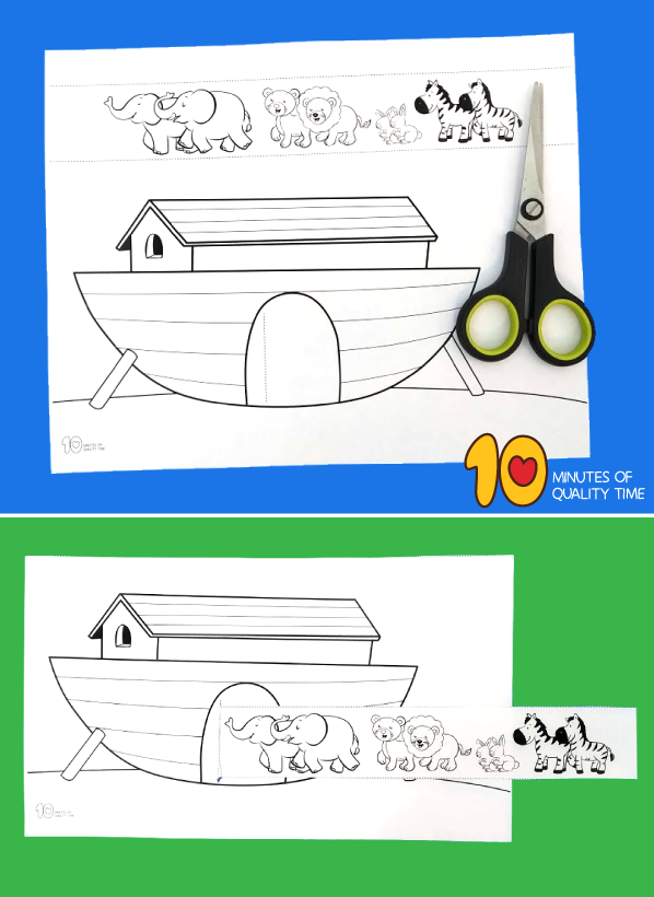 Noah S Ark Animals Two By Two Craft 10 Minutes Of