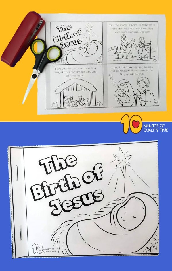 the birth of jesus story with pictures