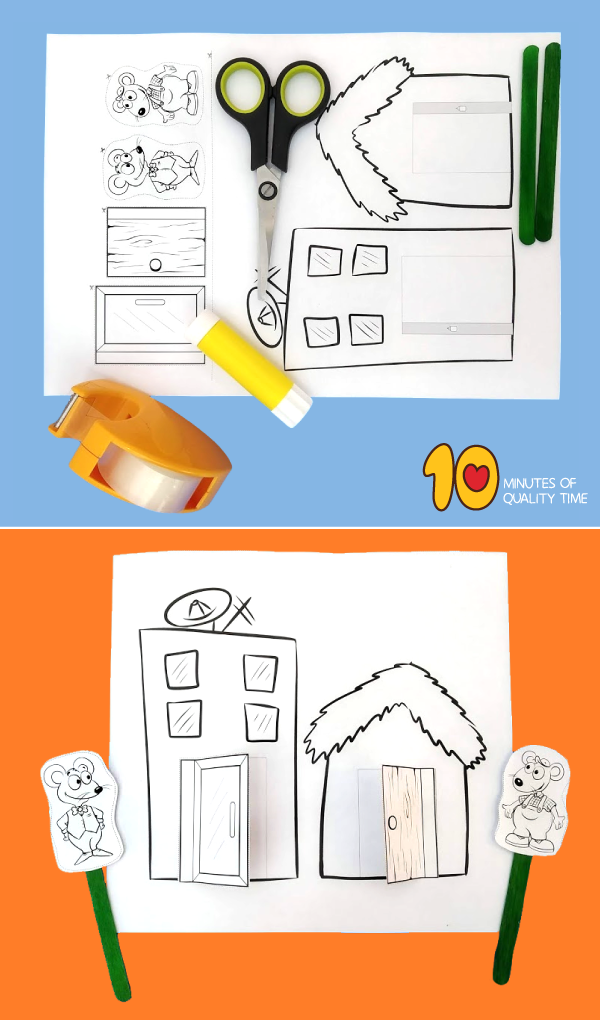 country mouse city mouse activities kindergarten