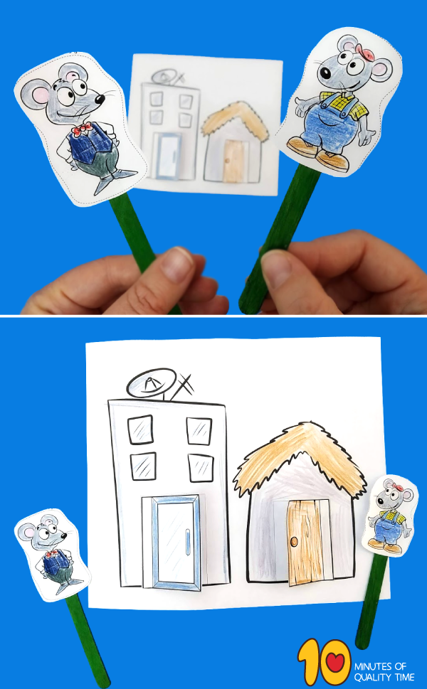 country mouse city mouse activities preschool