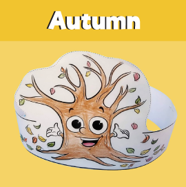 Autumn Tree Paper Crown