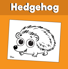 Cute Hedgehog Coloring Page