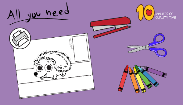 printable hedgehog template