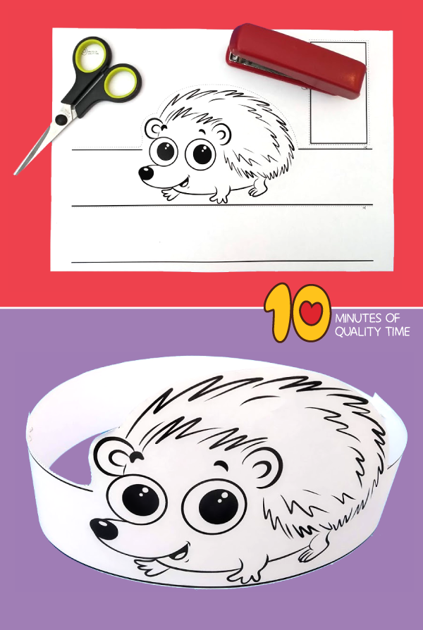 hedgehog craft template