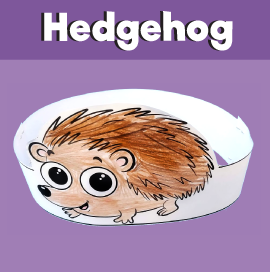 Hedgehog Paper Crown