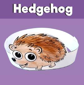 Hedgehog Paper Crown