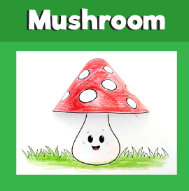 Mushroom 3D Craft
