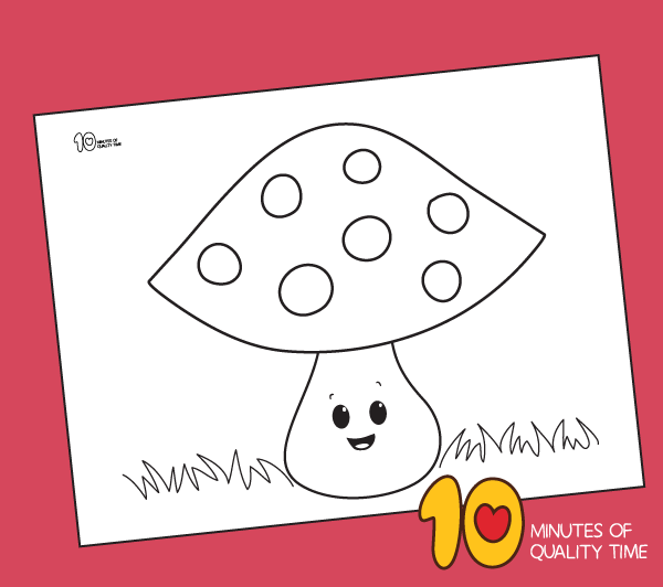 mushroom coloring pages for preschoolers