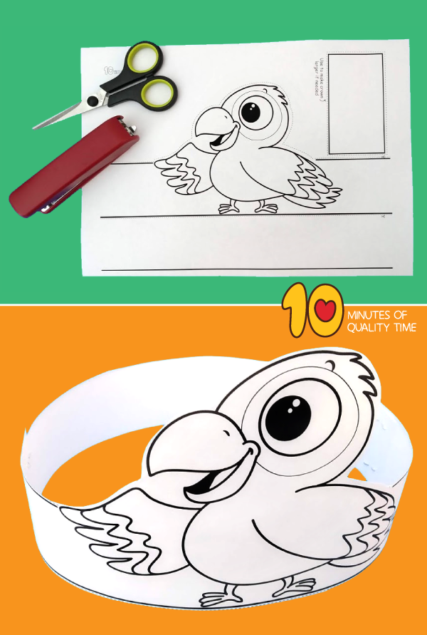 parrot craft for kindergarten