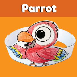 Parrot Paper Crown