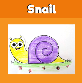 Snail With Moving Head Paper Craft