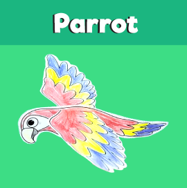 Flying Parrot Craft