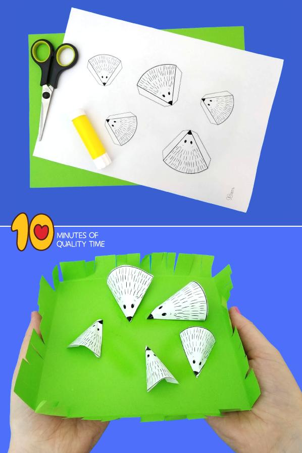 hedgehog craft preschool