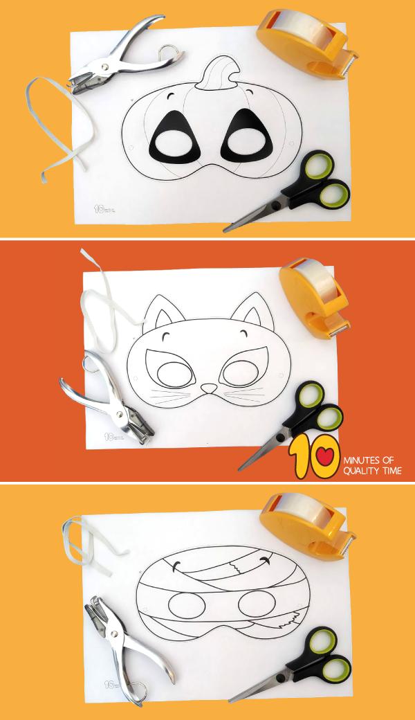 halloween paper masks printable
